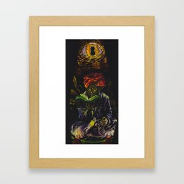 Abdul Alhazred with Necronomicon Framed Art Print