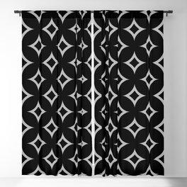 Geometric Flower and Diamond Pattern 124 Blackout Curtain