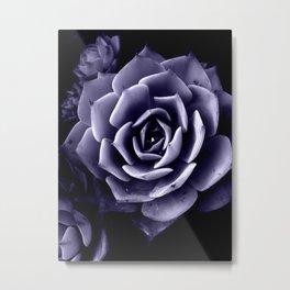 Dark Lavender Natural Mandal Metal Print