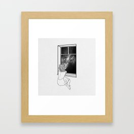 Sometimes, it's better to be alone. Framed Art Print
