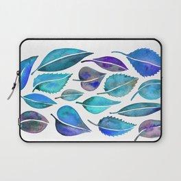 Cascading Leaves – Blue Palette Laptop Sleeve