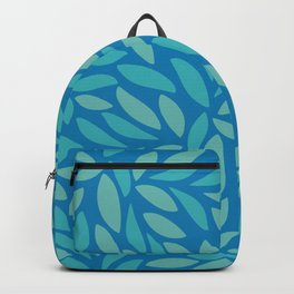 Blue tropical leaves blend pattern - tropical vibes - summer vibes -2020 Backpack