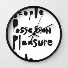 People, possession, pleasure, pride.     [WISE WORDS] [WORDS] [BIBLE] [BIBLICAL] Wall Clock