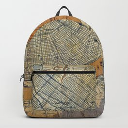 New Orleans Louisiana 1932 vintage map, NO old colorful artwork Backpack