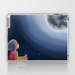 Little girl on the cliff Laptop & iPad Skin