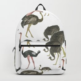 Ostrich pattern Backpack