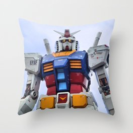 Gundam Stare Throw Pillow