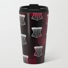Corset pattern Metal Travel Mug
