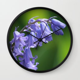 English Bluebells Wall Clock