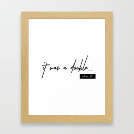 Volleyball Double ATX Framed Art Print