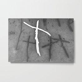 Wooden crosses Metal Print