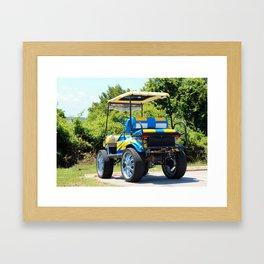 Two Tone Golf Cart Framed Art Print