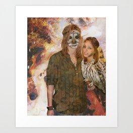 Owl Queen Art Print