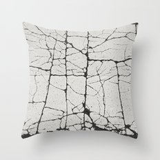 Cracked Crossing Throw Pillow