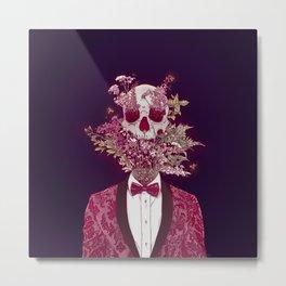 Skull Blossom Metal Print