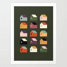 BAIRRO COLORIDO Art Print