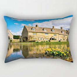 Lower Slaughter (The Cotswolds) Rectangular Pillow