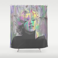 monroe Shower Curtains featuring Monroe by Calepotts