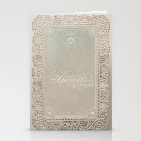 Decorative Rule Stationery Cards
