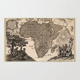 Map Of Africa 1737 Rug
