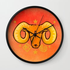Year of the Ram (distressed) Wall Clock