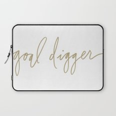 Goal Digger - Gold Print  Laptop Sleeve