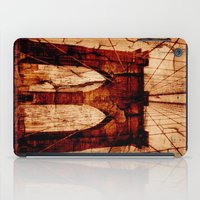 brooklyn bridge iPad Cases featuring Brooklyn Bridge by Del Vecchio Art by Aureo Del Vecchio