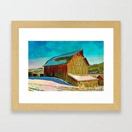 Barn On Major Road 2 Framed Art Print