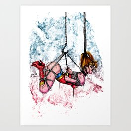 Bondage Wonderowman Art Print