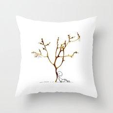 Grape tree Throw Pillow