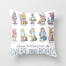 TNS - Rivers and Roads Throw Pillow