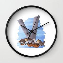 V comme Vautours Wall Clock