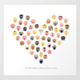 Vulva Heart - The Vulva Gallery Art Print