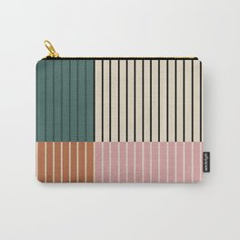 Color Block Lines V Carry-All Pouch