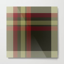 Colors Of Christmas (Plaid) Metal Print