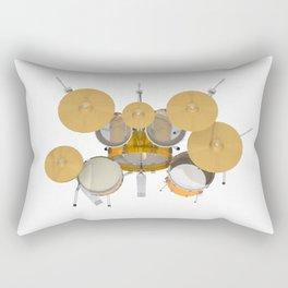 Yellow Drum Kit Rectangular Pillow