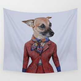 dog in uniform Wall Tapestry