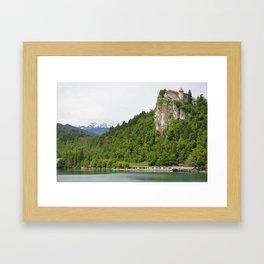 Lake Bled Castle Framed Art Print