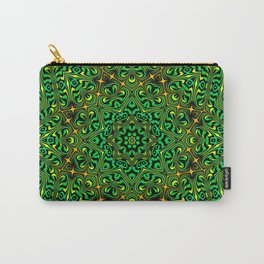 Orange Yellow and Green Kaldeidoscope 4 Carry-All Pouch