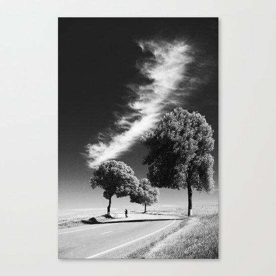 Cloud trees man Canvas Print