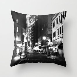 New York City at Night Throw Pillow