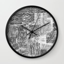 Gathering Pieces Wall Clock