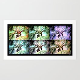 Palm Tree Collage Art Print