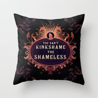 shameless Throw Pillows featuring the Shameless One by Larrydraws