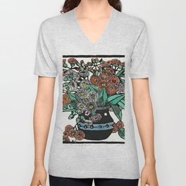 """Australian Gum Blossoms"" by Margaret Preston Unisex V-Neck"