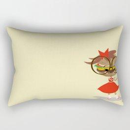 Burger Cutie Time Rectangular Pillow