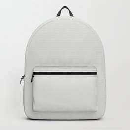 Off White Solid Color Parable to Valspar Bleached Slate 7004-20 Backpack