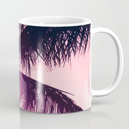 pink palm tree silhouettes kihei tropical nights Coffee Mug