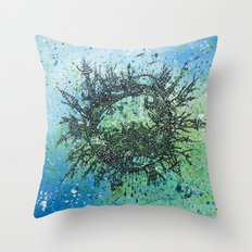 the planet shades Throw Pillow