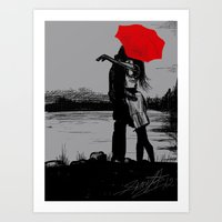 gray Art Prints featuring Gray... by Anush's Art